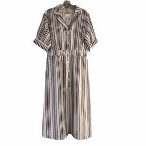 NWT Hazel Gianna Button Down Midi Dress Sz L
